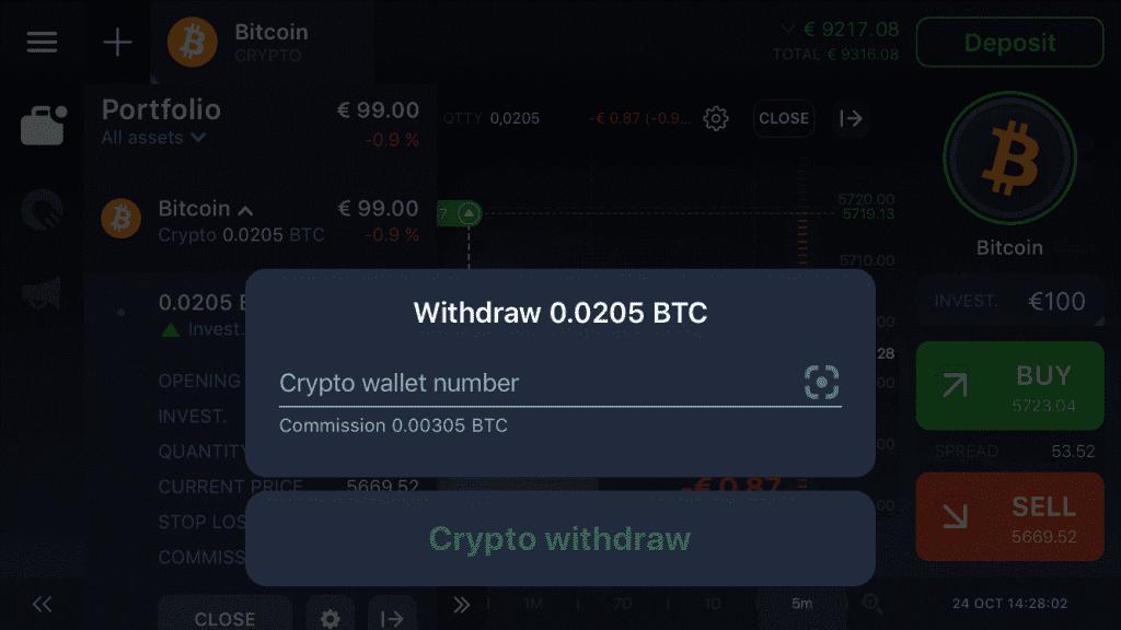 Withdraw BTC