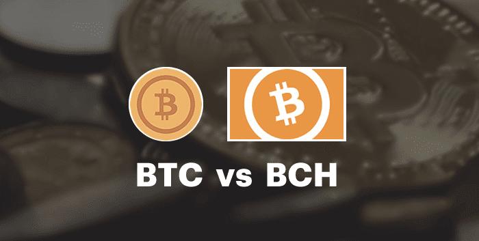 BTC vs. BCH