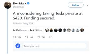 Ilon Musk tweet