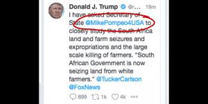 Donald Trump tweet